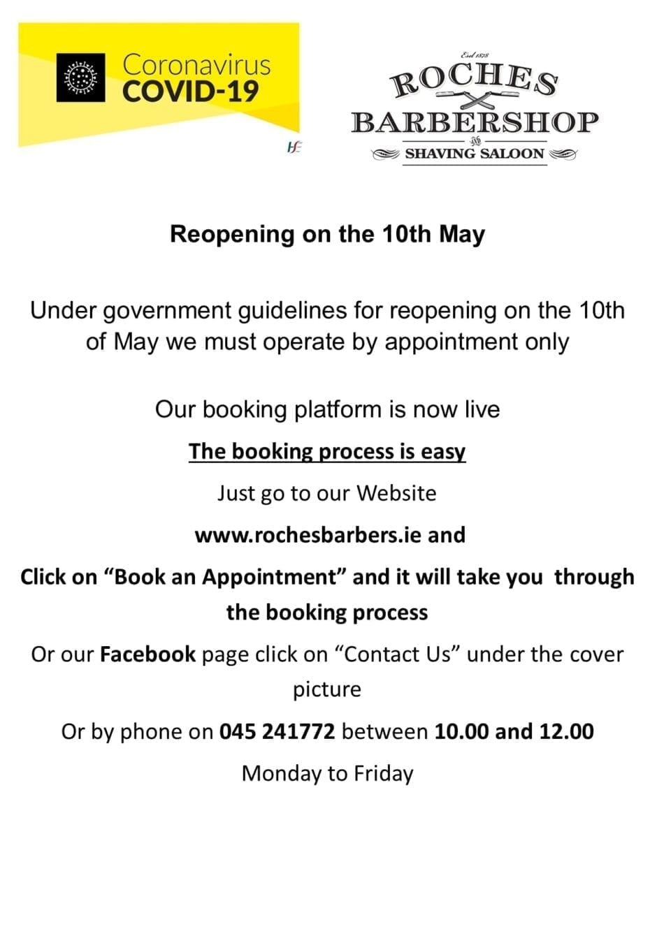 notice for reopening